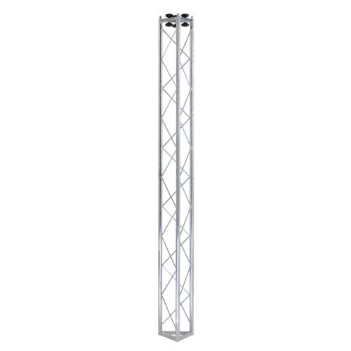 00839 Traliccio triangolare in acciaio zincato bianco L 2000 mm