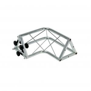 """00841 Traliccio triangolare a """"L"""" 2 canali in acciaio zincato bianco (americane)"""
