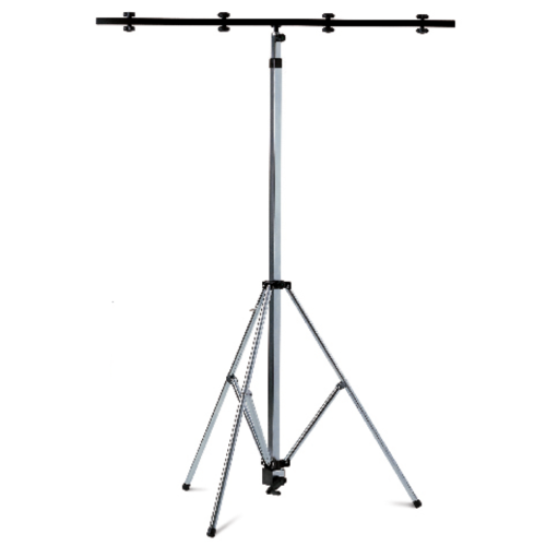 01059 Lighting stand, steel, galvanized with telescopic leg