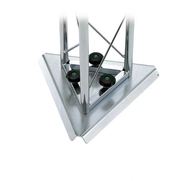 01189 Base triangolare lamiera zincata bianca L 350 mm