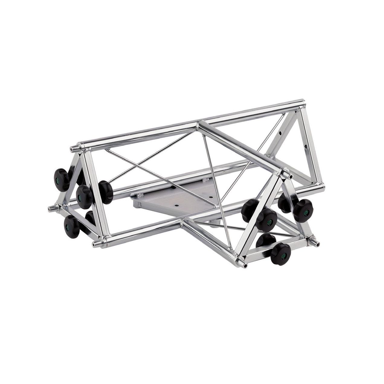 """01193 Traliccio triangolare a """"T"""" 4 canali maschio in acciaio zincato bianco (americana)"""
