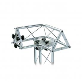 """01194 Traliccio triangolare a """"L"""" 3 canali in acciaio zincato bianco (americane)"""