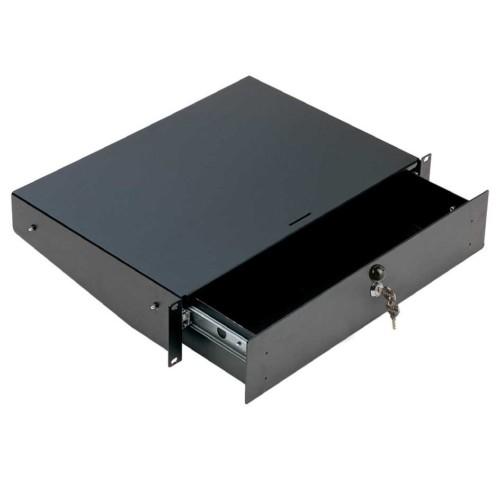 01912 Cassetto rack, 2U, con serratura