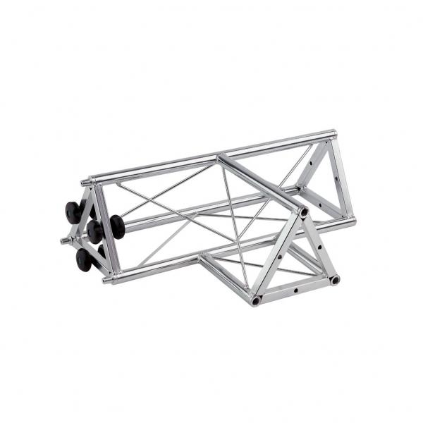 """02024 Traliccio triangolare a """"T"""" 3 canali femmina in acciaio zincato bianco (americana)"""