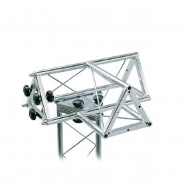 """02025 Traliccio triangolare a """"T"""" 4 canali femmina in acciaio zincato bianco (americana)"""