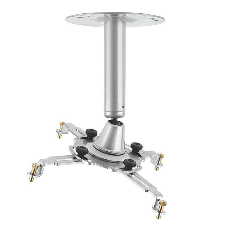 04382 Staffa videoproiettore da soffitto universale braccio 150mm silver