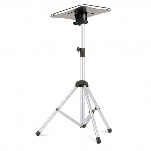 05322 Projector floor stand, aluminium tripod legs, tilting shelf