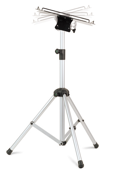 05322 Dia/Video floor stand, aluminium tripod legs, tilting shelf
