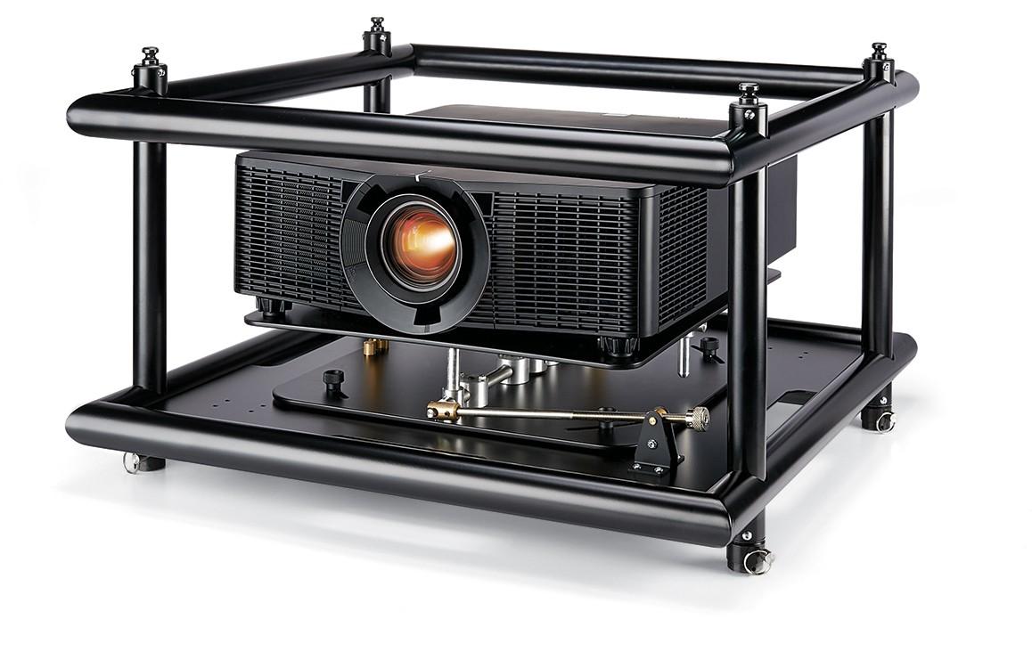 Supporto videoproiettori sovrapposti (stacking) destinati a proiezioni tridimensionali (3D) professionali e semiprofessionali.