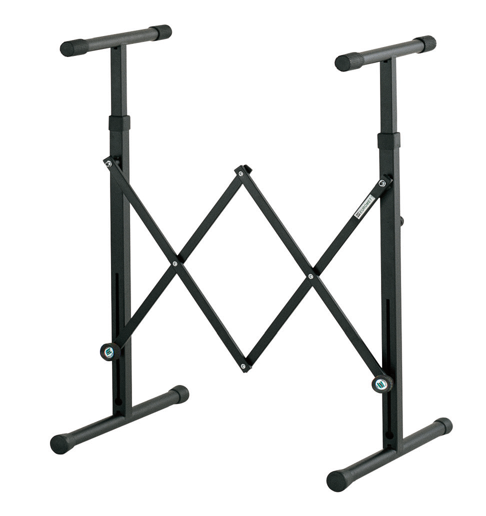 Keyboard Stand, Extendable, Telescopic Frame, Black - Euromet