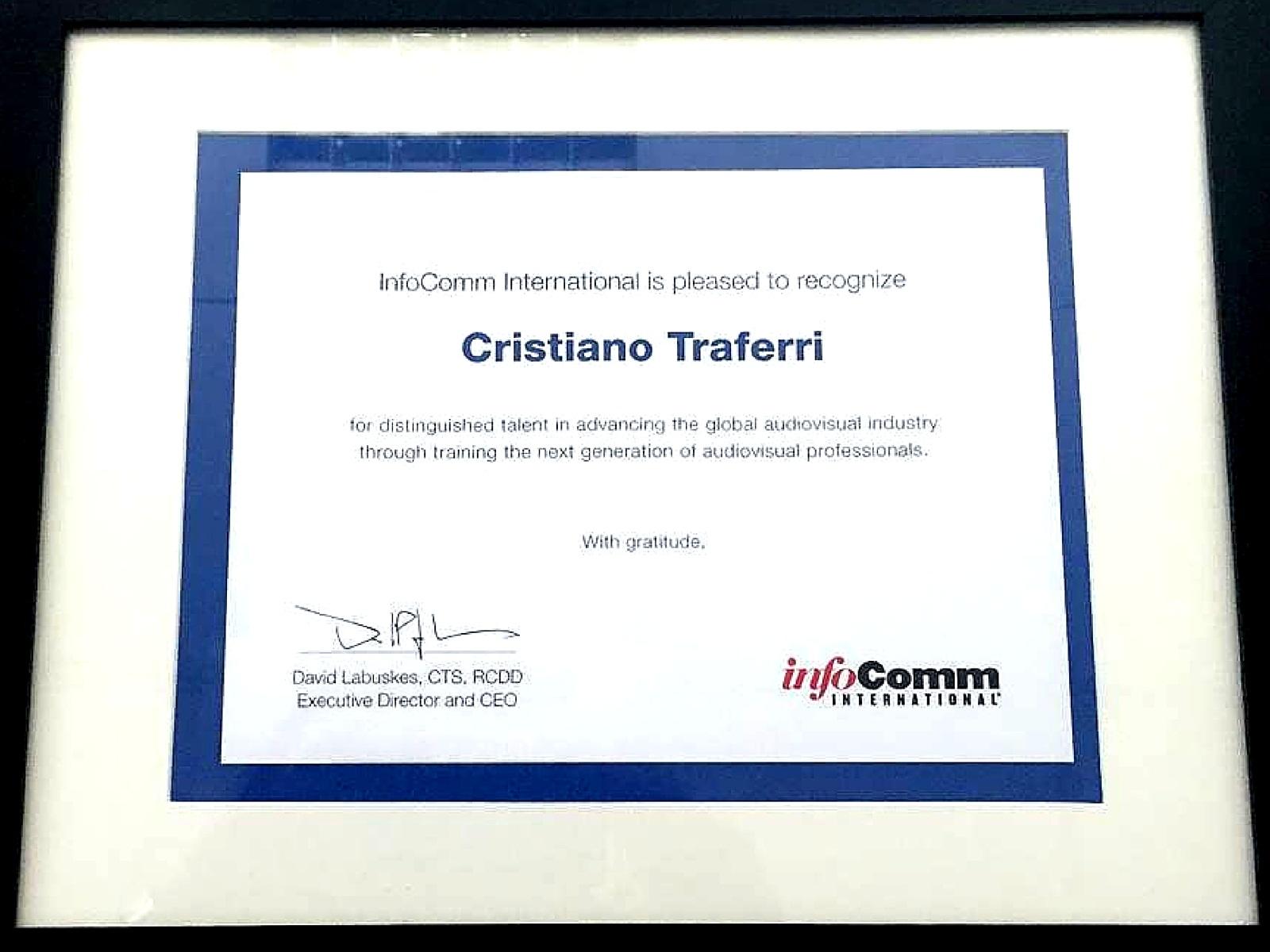 InfoComm recognition